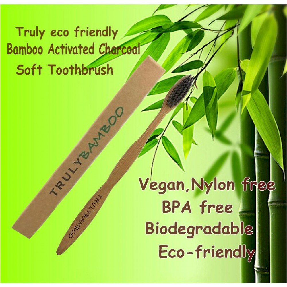 Truly Bamboo Soft Toothbrush (4 pieces)