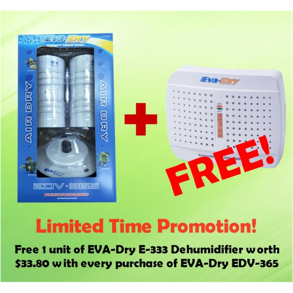 EVA-DRY EDV365 Air Dry System Renewable Dehumidifier